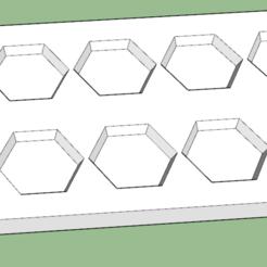 Download free STL file Bevelled 6mm hex base mould • Model to 3D print, Lu22X