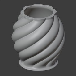 IMAGEN1.jpg Download STL file TRADITIONAL SPIRAL POT A • 3D print template, Carlostfe1972