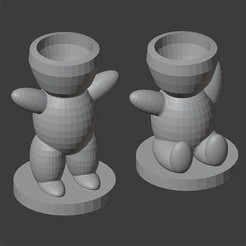 Download 3D printer files LOW POLY CHARACTER POT, Carlostfe1972