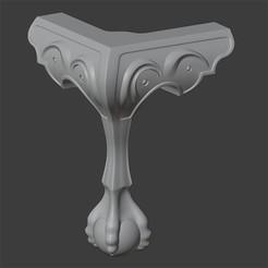 IMAGEN1.jpg Télécharger fichier STL MODÉLISATION CLASSIQUE DE PIEDS EN GRIFFE • Objet pour imprimante 3D, Carlostfe1972