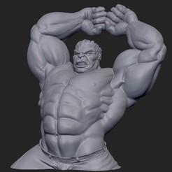 Télécharger plan imprimante 3D gatuit Hulk, marcomondragon_art