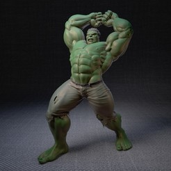 Download STL Complete Hulk, marcomondragon_art