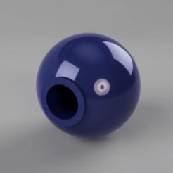 Bocha_palanca_tragamonedas_45mm_v1_1.png Download STL file Bocha ball slot lever • 3D printer object, Rocket3D