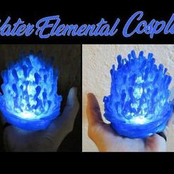 il_794xN.1903659005_fhot.jpg Download STL file Water Elemental Cosplay, Light up LED Wearable Aquaman WaterBall Liquid H20 Costume Prop for Cosplay, Comiccon, Halloween • 3D print object, mechengineermike