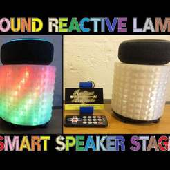 "Smart-speaker-stage-WIDE.jpg Télécharger fichier STL gratuit Lampe de soirée à réaction sonore ""Smart Speaker Stage • Modèle à imprimer en 3D, mechengineermike"