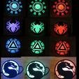 il_794xN.2069320561_60ot.jpg Download STL file LED Medallion, Wearable as Belt Buckle, Necklace, Strap-on Chest, Bracelet, Multicolor Batman, Spiderman, Marvel, Arc Reactor Cosplay Costume Prop, Comiccon, Halloween • Model to 3D print, mechengineermike