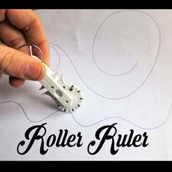 Roller_Ruler.jpg Download free STL file Geneva Roller Ruler, Pocket Sized Infinite Ruler • Design to 3D print, mechengineermike