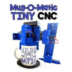 Title-Pic.jpg Download free STL file Mug-O-Matic Tiny CNC Drawing Robot • Template to 3D print, mechengineermike
