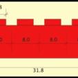 lego-brick-dimensions.png Télécharger fichier SCAD gratuit Monture Arduino Not-Lego et accessoires de robotique • Modèle pour imprimante 3D, mechengineermike