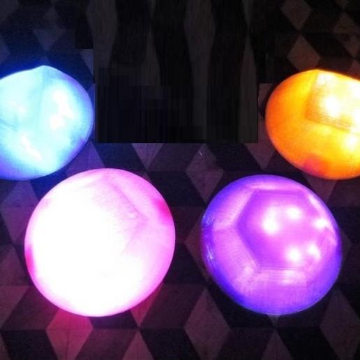 il_794xN.1825770431_7i5m.jpg Download STL file Steven Universe LED GEM, Wearable Glow Light Up Crystal Prop Amethyst Rose Quartz Pearl, Cosplay, Costume, Halloween • 3D printer model, mechengineermike