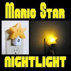mainstar.jpg Download STL file 8-bit Mario Star Night Light, Original Super Mario Themed Yellow Pixel Star LED light with Auto On/Off • 3D printing template, mechengineermike
