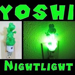 yoshi_nightlight.jpg Download free STL file Yoshi Nightlight • 3D printable object, mechengineermike