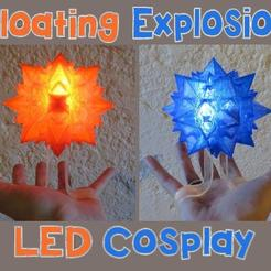 il_794xN.2005792507_41t9.jpg Download STL file Floating Explosion Cosplay! Light up LED Wearable Handheld Float Bakugou Explode-Ice Ball, for Costume Cosplay, Comiccon, Halloween • 3D print model, mechengineermike