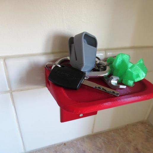 il_794xN.1817938735_ipvy.jpg Download STL file Custom Wall Outlet Shelf Stand! Use as a Phone Mount Dock, Amazon Alexa Echo Holder, Tablet Charger, Charging Station, or Organization Table • 3D print template, mechengineermike