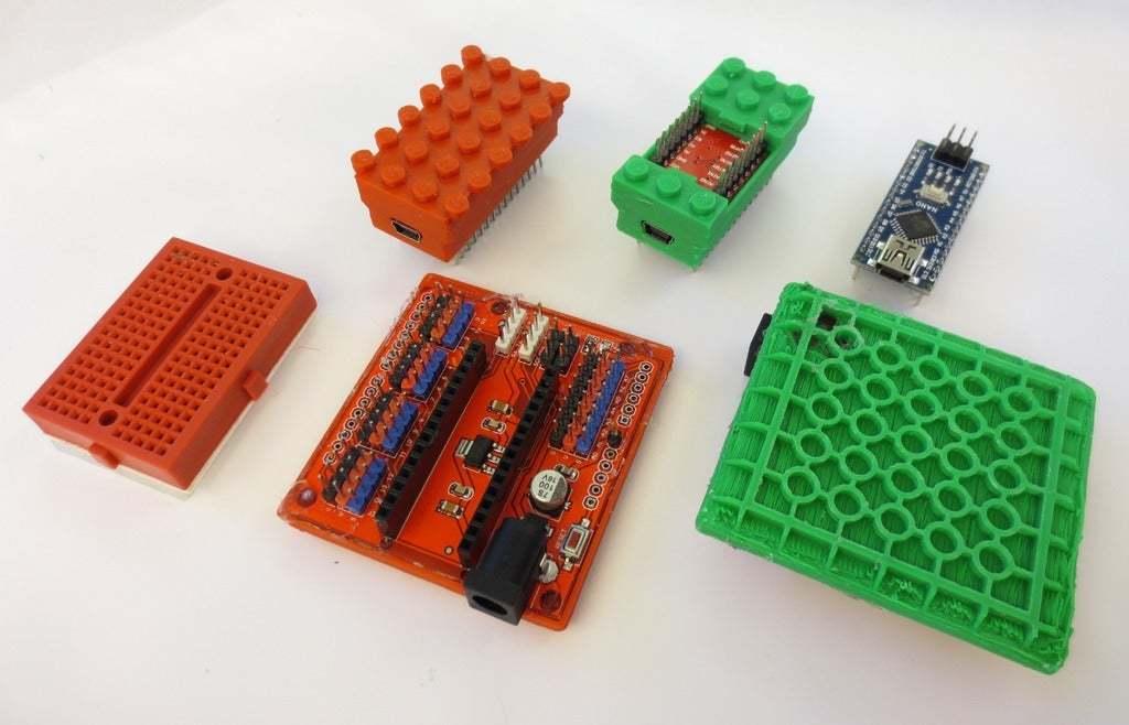 IMG_6194.JPG Télécharger fichier SCAD gratuit Monture Arduino Not-Lego et accessoires de robotique • Modèle pour imprimante 3D, mechengineermike