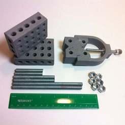 IMG_0528.JPG Download free STL file 1-2-3 Block & V-Block Jig Set • 3D printable template, mechengineermike