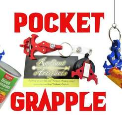 Pocket-Grapple.jpg Download free STL file Pocket Grapple- a Toy Mechanical Claw Grappling Hook • 3D printing template, mechengineermike