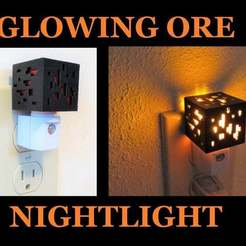 redstone_nightlight.jpg Descargar archivo STL gratis Mini Minecraft Ore Cube Nightlight Redstone • Modelo para la impresora 3D, mechengineermike