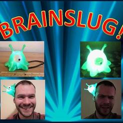 il_794xN.1774221716_ef83.jpg Download STL file Futurama Brain Slug Cosplay, LED Light Up Casual Costume, Wearable Brainslug Hat Straps on Head, Halloween, Comiccon • Object to 3D print, mechengineermike