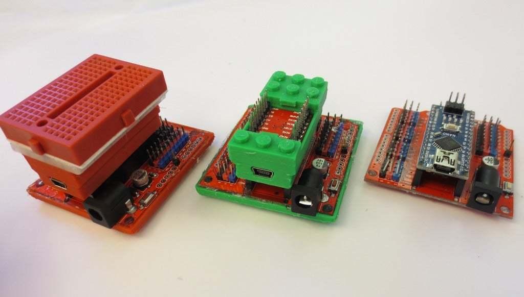 IMG_6195.JPG Télécharger fichier SCAD gratuit Monture Arduino Not-Lego et accessoires de robotique • Modèle pour imprimante 3D, mechengineermike