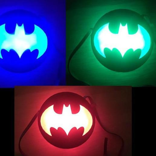 il_794xN.2031833046_e2va.jpg Download STL file LED Medallion, Wearable as Belt Buckle, Necklace, Strap-on Chest, Bracelet, Multicolor Batman, Spiderman, Marvel, Arc Reactor Cosplay Costume Prop, Comiccon, Halloween • Model to 3D print, mechengineermike