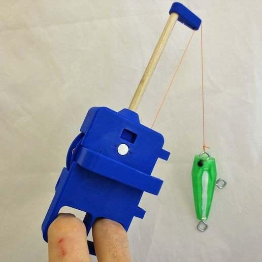 IMG_8307.JPG Download free STL file PortaReel Portable Fishing Pole • 3D printable model, mechengineermike