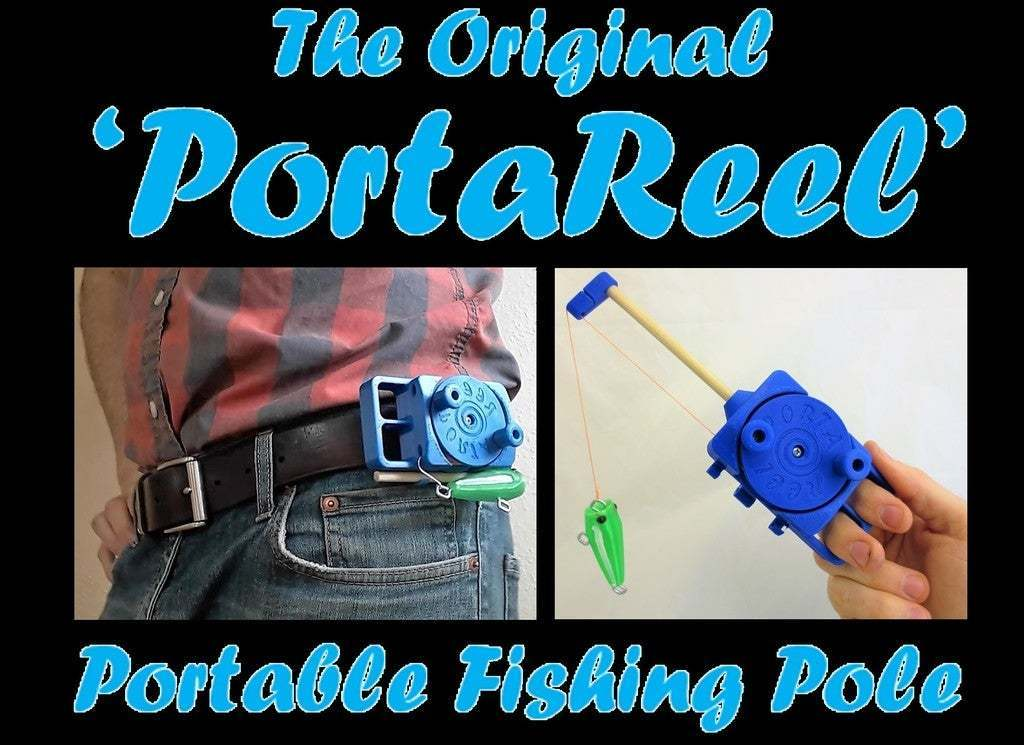 PortaReel_-_Copy.jpg Download free STL file PortaReel Portable Fishing Pole • 3D printable model, mechengineermike