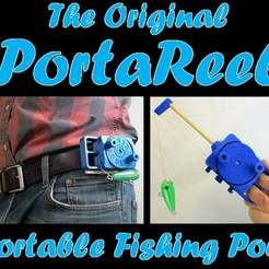 PortaReel_-_Copy.jpg Download free STL file PortaReel Portable Fishing Pole • 3D printable model, mechengineermike