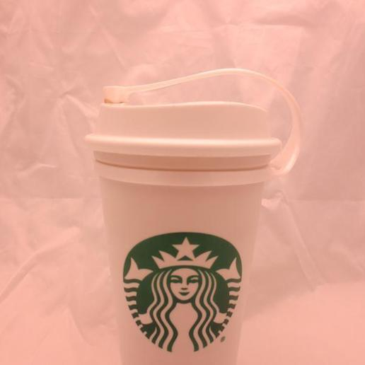 il_794xN.2200423198_jxpj.jpg Download STL file Plug for Starbucks Hot Cup, Flexible plug for the standard reusable Travel To go Starbucks Venti grande coffee cup, doubles as belt strap • 3D print template, mechengineermike