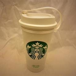il_794xN.2248021703_8nku.jpg Download STL file Plug for Starbucks Hot Cup, Flexible plug for the standard reusable Travel To go Starbucks Venti grande coffee cup, doubles as belt strap • 3D print template, mechengineermike