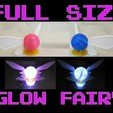 il_1140xN.1833785581_98MAIN_.jpg Download STL file Full Size Light Up Navi Fairy Zelda Cosplay, Large LED Glow Link Faerie With Stand, 72 hour Battery Power, LED Light Up Prop • 3D printable object, mechengineermike