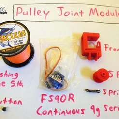 IMG_7534.JPG Download free STL file Hobby Servo Pulley Module *TINY_CNC_COLLECTION • 3D print model, mechengineermike