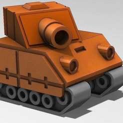 ORANGE_STAR_TANK.jpg Download free STL file Tank Model from Advance Wars Game • 3D printing template, mechengineermike