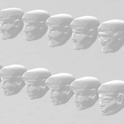 display 1.2.jpg Download free STL file 28mm Special Forces Beret Head Set • 3D printing design, Valiant_Armory