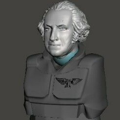 display 1.jpg Download free STL file George Washington 28mm Head • Design to 3D print, Valiant_Armory