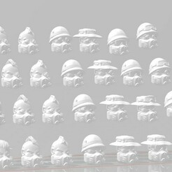 display 1.2.jpg Download free STL file 28mm Lords of Ruin Scifi Vietnam Heads Pack • 3D printing object, Valiant_Armory