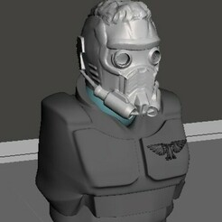 display 1.jpg Download free STL file Starlord, Hero of the outer reaches • Design to 3D print, Valiant_Armory