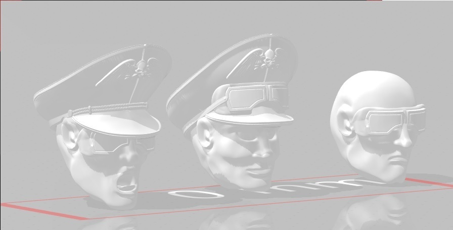 display 1.jpg Download STL file 28mm Desert Officer/Commissar Hat for Angry Space Guard • 3D print template, Valiant_Armory