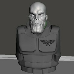 display 1.jpg Download free STL file 28mm Thanos Head • Object to 3D print, Valiant_Armory