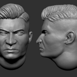 3.jpg Download STL file 28mm Asian Featured Heads • 3D printable template, Valiant_Armory
