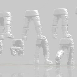 Display 2.1.jpg Download STL file Armored Fatigue Leg Set • Object to 3D print, Valiant_Armory