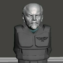 display 1.jpg Download free STL file Comrade Lenin 28mm Head • 3D printer template, Valiant_Armory