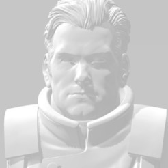 closeup.jpg Download free STL file Homelander the Commissar Angry Space Guard • 3D print template, Valiant_Armory
