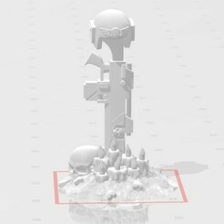 display 1.jpg Download free STL file 5 Burial Markers/Objective Markers • 3D printer object, Valiant_Armory
