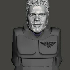 display 1.jpg Download free STL file 28mm Billy Butcher Guardsmen Head • 3D printer model, Valiant_Armory
