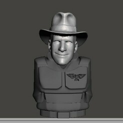 display 1.jpg Download free STL file Indiana Jones 28mm Head • 3D printable template, Valiant_Armory