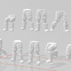 display 1.jpg Download STL file 28mm Angry Guard Combat Shorts Leg Set • Design to 3D print, Valiant_Armory