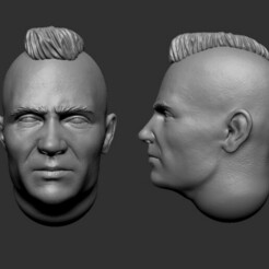 1.jpg Download STL file 28mm Caucasian Featured Heads • 3D print design, Valiant_Armory
