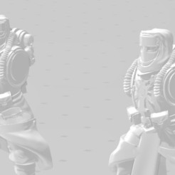 Display close.jpg Download free STL file Desert Angry Space Guard Psychic Stormtroops Conversion Kit • 3D printer object, Valiant_Armory