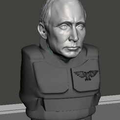 display 1.jpg Download free STL file Vladimir Putin, Officer of the Imperium • 3D printing template, Valiant_Armory